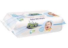 Pure Soft Wet Wipes with 120 Piece Clip Different Colors