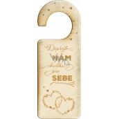 Albi Wooden door tag Wedding 22,5 x 8,3 x 0,3 cm