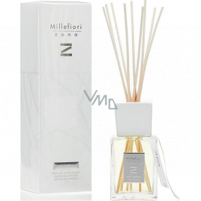 Millefiori Milano Zona Soft Leather - Fine leather Diffuser 500 ml + 10 stalks in the length of 35 cm for large spaces lasts min. 6 months