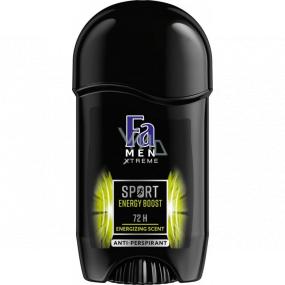 Fa Men Xtreme Sport Energy Boost 72h antiperspirant deodorant stick for men 50 ml