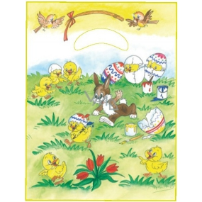 Angel Plastic bag 36 x 27.5 x 4 cm Bunnies and chickens