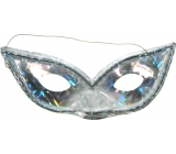 Silver hologram cat eyes mask suitable for adults