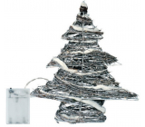 Emos Tree wicker 30 x 30 x 8 cm, 30 LED cool white + 30 cm battery-cable