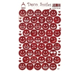 Arch Holographic decorative stickers emoticons red