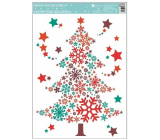 Room Decor Window foil without glue colored, tree made of flakes 33.5 x 25.5 cm
