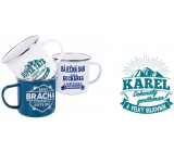 Albi Metal mug with the name Karel 250 ml