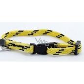 B&F Collar Nylon yellow-black 1,0 x 18 - 28 cm