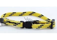 B&F Collar Nylon yellow-black 1,0 x 18 - 28 cm