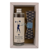 Bohemia Gifts Sportsman shower gel 250 ml + wooden bow tie, cosmetic set for men
