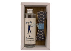 Bohemia Gifts & Cosmetics Dead Sea Salt Sportsman Shower Gel 250 ml + wooden bow tie, men's cosmetic set