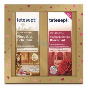 Tetesept Cleopatra's Secret cream bath 125 ml + Moroccan rose bath caring bath oil concentrate 125 ml cosmetic set