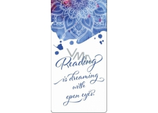 Albi Magnetic bookmark English calligraphic text 8.7 cm x 4.4 cm