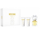 Moschino Toy 2 perfumed water for women 50 ml + body lotion 50 ml + shower gel 50 ml, gift set