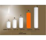 Lima Svíčka hladká oranžová válec 60 x 220 mm 1kus