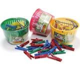 Cleanex Kolíčky na prádlo plastové 50 kusů + košík