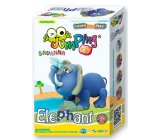 Jumping Clay Savana - Elephant self-drying modeling clay 56 g + paper model + 5+
