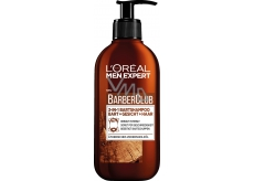 Loreal Men Exp.BarberClub Beard, Face + Hair Wash 200ml dose. 6130