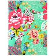 Ditipo packing papers.2 mx 70cm green colored flowers