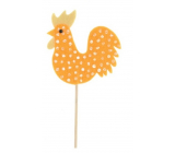 Felt tap with polka dots 7.5 cm + orange skewers