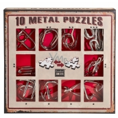 Albi Set of 10 metal puzzles red, age 7+