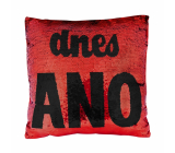 Albi Pillow with sequins Yes / No 37 x 37 x 10 cm