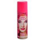 Washable colored hairspray Pink 125 ml spray