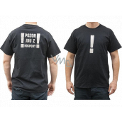 Bohemia Gifts Original T-shirt with reflective print Attention, I'm leaving the pub! size XXL