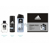 Adidas Dynamic Pulse aftershave 50 ml + 3 in 1 shower gel for body and hair 250 ml + deodorant spray 150 ml, cosmetic set