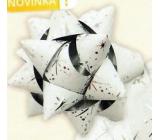 Nekupto Starfish medium luxury white with silver HV details