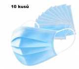 Veil 3 layers protective medical non-woven disposable, low breathing resistance 10 pieces blue TYPE IIR