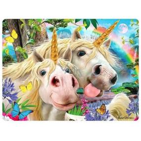 Prime3D postcard - Unicorn Selfie 16 x 12 cm