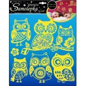 Room Decor Wall Stickers Owls shining in the dark 38 x 31 cm