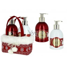 Vivian Gray Red Christmas luxury liquid soap 250 ml + hand lotion 250 ml, cosmetic set