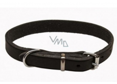 Collar Leather cowhide black-oily leather 2.2 x 60 cm