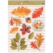 Room Decor Window foil without glue autumn pumpkin, leaves 30 x 42 cm
