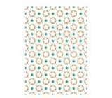 Ditipo Gift wrapping paper 70 x 200 cm white stars