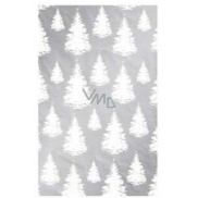 Ditipo Wrapping paper Luxury silver white trees of different size 2 mx 70 cm