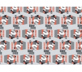 Mimoni Christmas wrapping paper for children red-gray 2 mx 70 cm