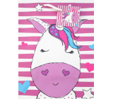 Nekupto Gift paper bag 18 x 23 x 10 cm Unicorn 1821 30 KFM