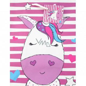 Nekupto Gift paper bag medium 18 x 23 x 10 cm Unicorn 1821 30 KFM