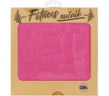 Albi Fitness towel Mommy pink 90 x 50 cm