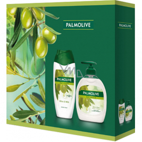 Palmolive Naturals Olive & Milk shower cream 250 ml + Olive & Milk liquid soap dispenser 300 ml, cosmetic set
