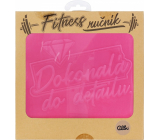 Albi Fitness towel Perfect in detail pink 90 x 50 cm