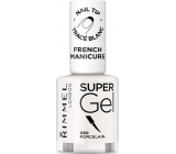 Rimmel London Super Gel French Manicure Nail Polish 090 Porcelain 12 ml
