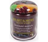 Heart & Home Šťavnaté moruše Sojová vonná svíčka velká hoří až 70 hodin 310 g