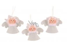 Anděl bílý 3,5 cm, 3 ks v sáčku