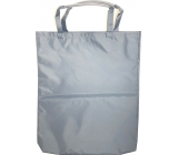 Gray shopping bag with tube 41 x 34 x 4 cm 9938