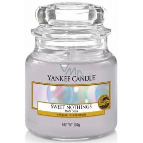 Yankee Candle Sweet Nothings - Sladké nic vonná svíčka Classic malá sklo 104 g