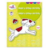 Ditipo Find and dolep pictures, stickers removable, develops logical thinking, fine motor skills for children 4-6 years 16 pages