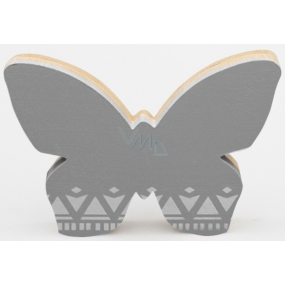 Nekupto Home Decor Bow tie gray 12 x 8 cm